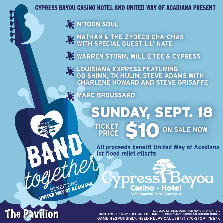 Cypress bayou casino charenton