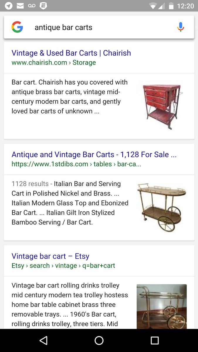 Seeing: Thumbnails in mobile eCommerce search results. #seo https://t.co/Ry7qL2MPkc