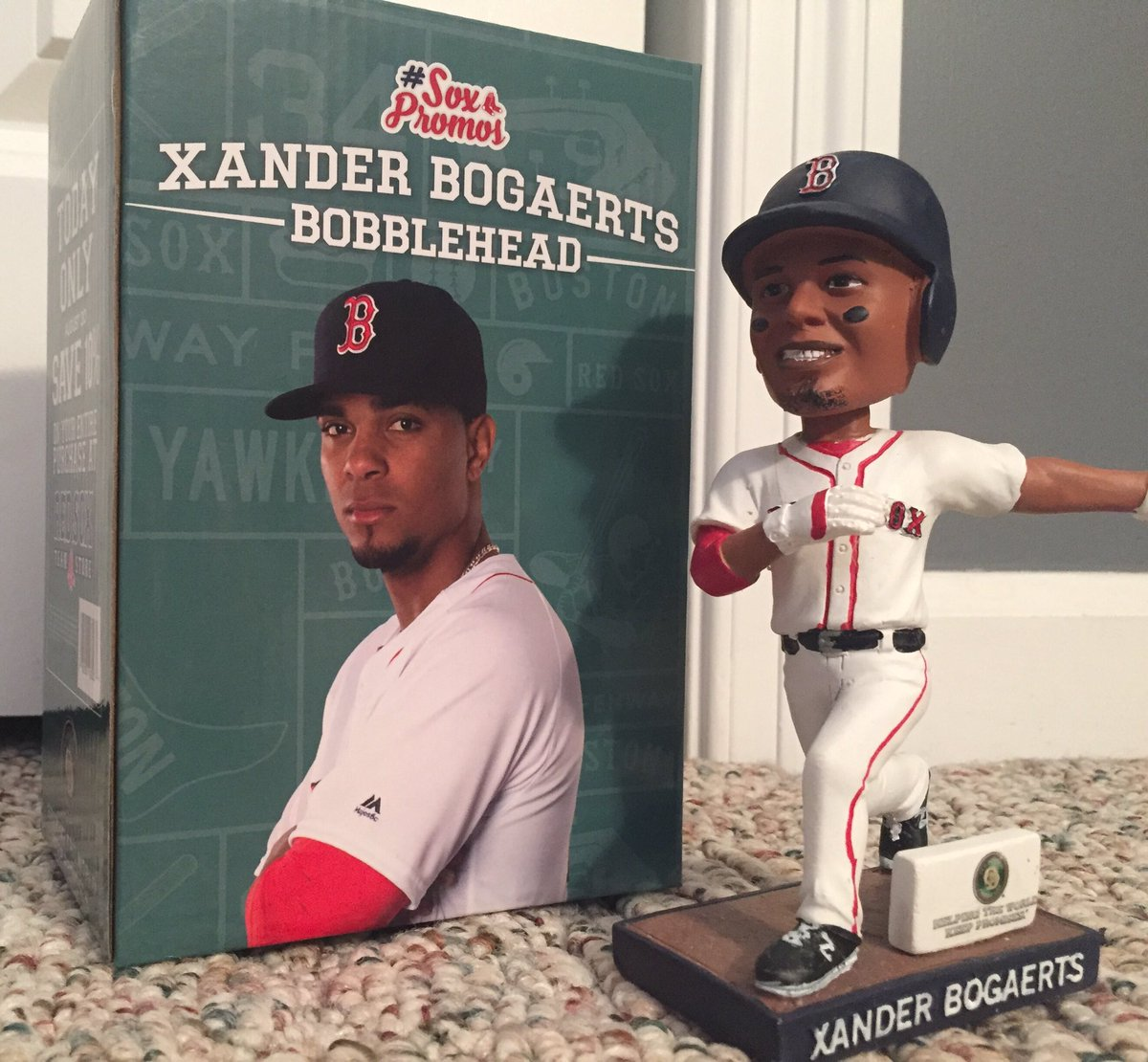 This is my Xander Bogaerts bobblehead and after Friday night's game I'm giving it to a random follower who RTs this. https://t.co/jg1xq1NP42