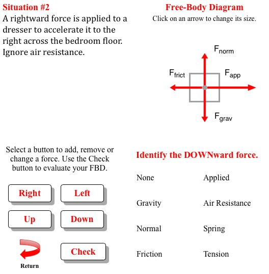 Physics classroom on twitter learn to draw fbds like a boss with physics classroom on twitter learn to draw fbds like a boss with our free body diagram interactive httpstomtddyapae phint ccuart Gallery