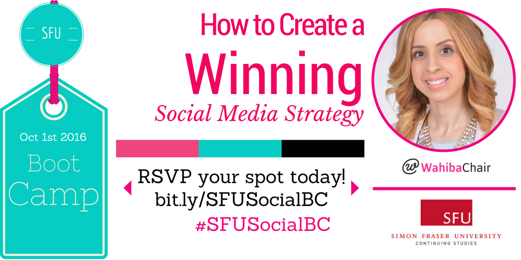 How to Develop a Winning Social Media Strategy? RSVP at: https://t.co/nh2HaBDjIA #SFUSocialBC #Vancouver https://t.co/v12PpmazoS