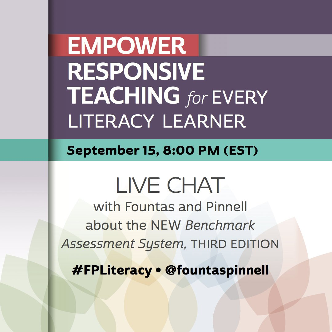 Thumbnail for Fountas & Pinnell - Twitter Chat Content for September 15, 2016