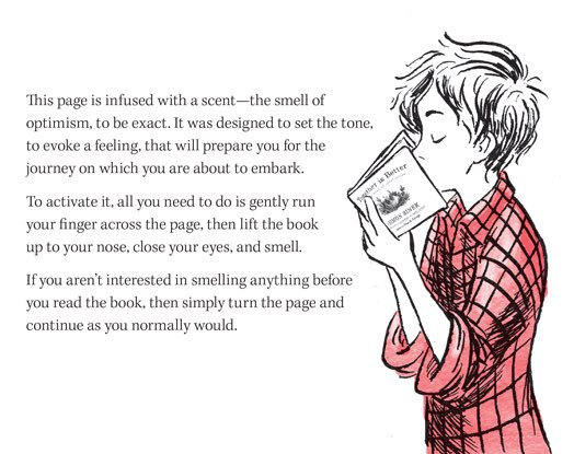 The smell of optimism is infused into my new book Together Is Better. Give it a sniff goo.gl/08S3sX