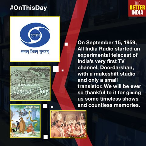 @DDNational turned 57 yesterday. So many #memories #MaalgudiDays #Mowgli #EkChidiya and more /photo @thebetterindia https://t.co/qKRe9Q5u6a