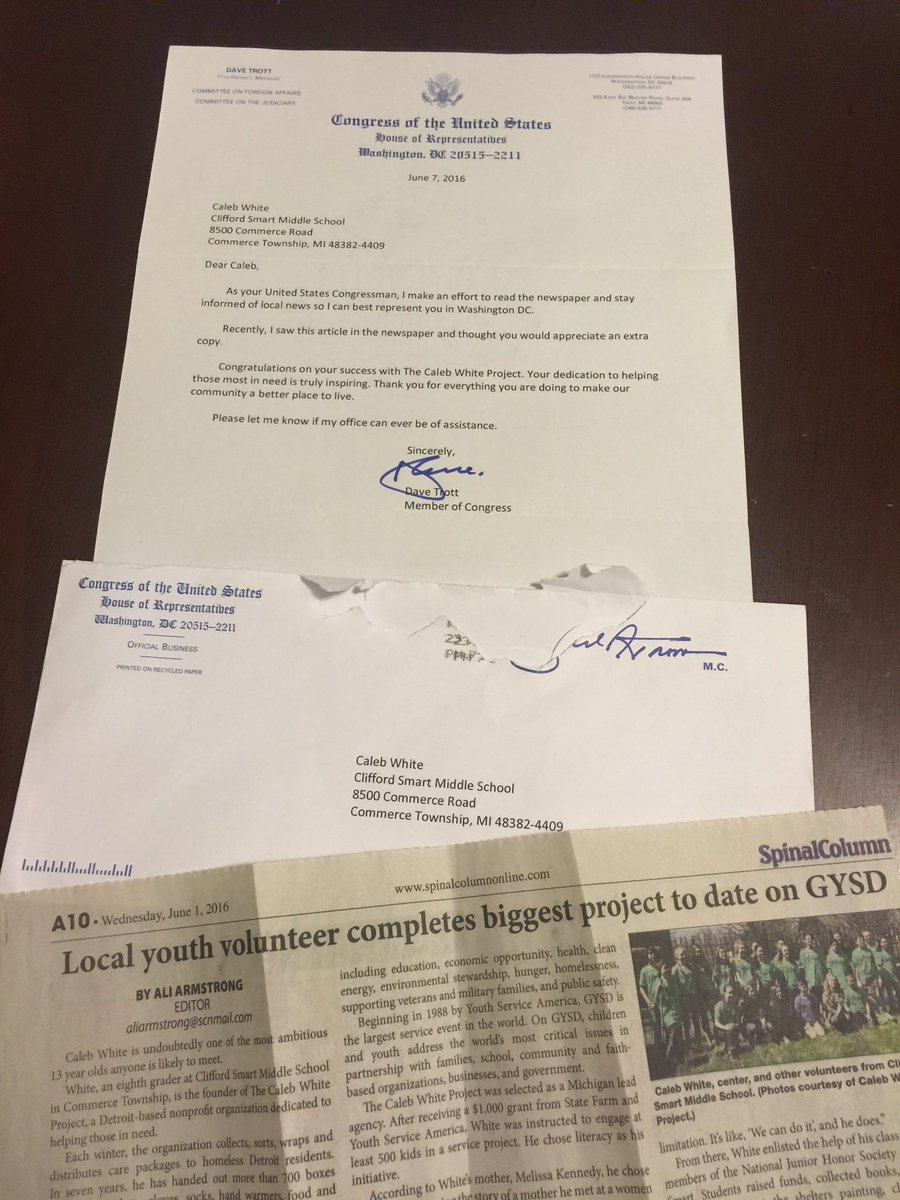 Caleb white on twitter thank you congressman repdavetrott for the caleb white on twitter thank you congressman repdavetrott for the kind letter that you sent to my school give love stopboris Gallery