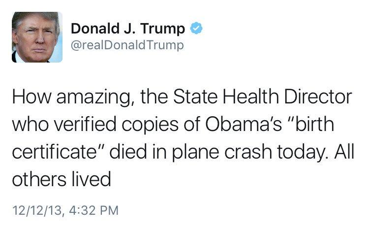 Sahil Kapur On Twitter Trump Camp Says He Thinks Obamas Us Birth