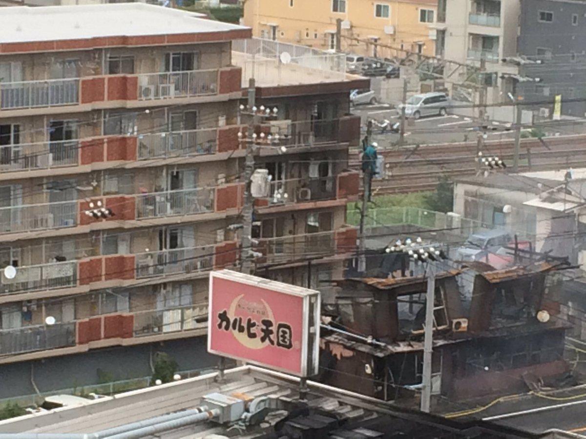 tweet : 【火災現地画像】広島県広島市安芸区船越南で大きな火事 ...