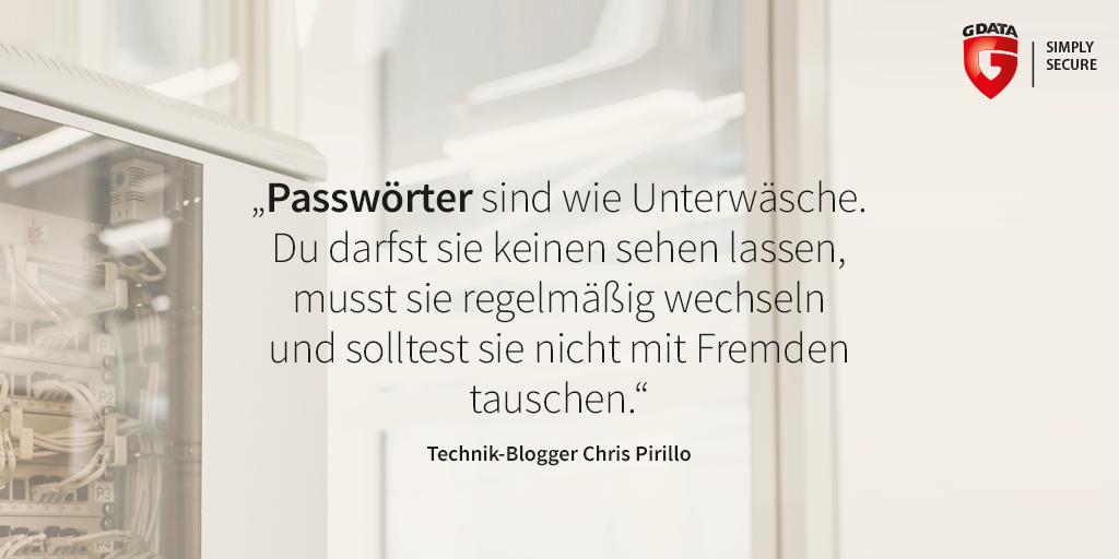 Passwörter sind wie Unterwäsche: Regelmäßig wechseln und niemals teilen. #Passwort #Sicherheit #Zitat https://t.co/y2r0ouvwaM