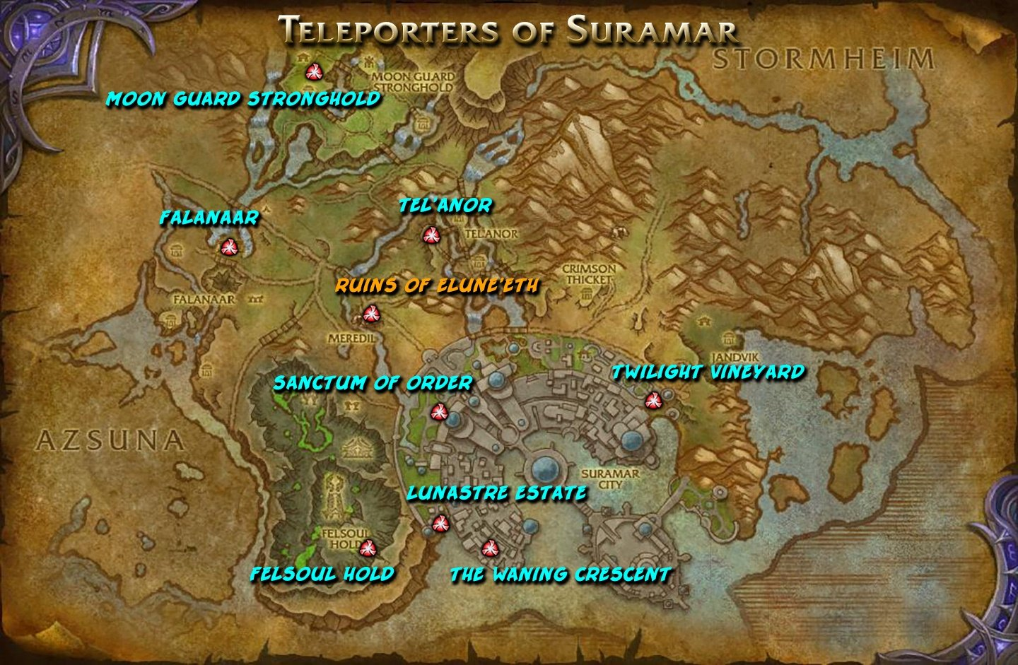 Reckles On Twitter Quot Useful Map Of Suramar Teleporters