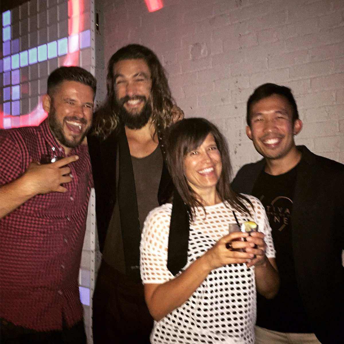 """Jason Momoa Latest Movie: Sarah Bartok On Twitter: """"At A TIFF Party With My Brother"""