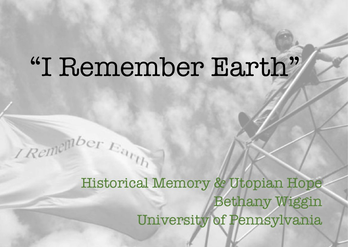 thanks @HeidiHutner 4 invite to talk with you & students about Historical Memory and Utopian Hope next week. #EnvHum https://t.co/gx27dUxG10