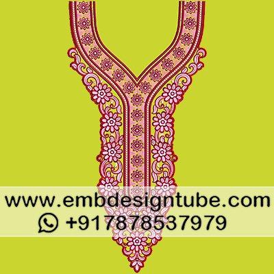 Embdesigntube Com On Twitter Fancy Neck Embroidery Design