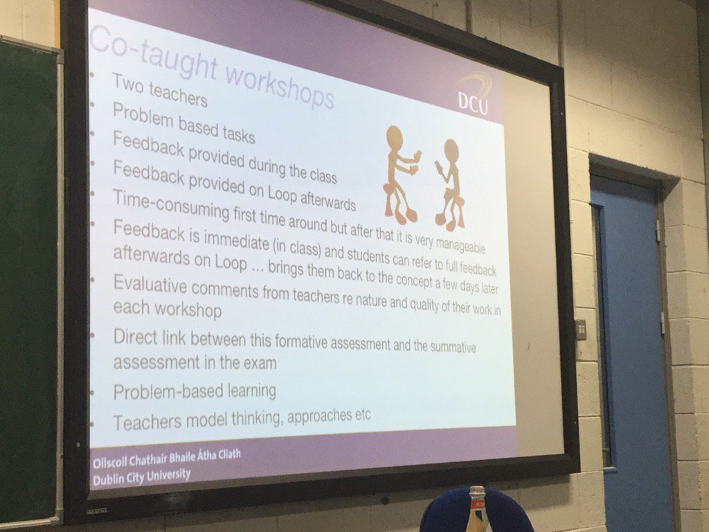 #DCUTEU Ann Marie explains strategies used to manage assessment given 400 students in class https://t.co/kMAba0oHHJ