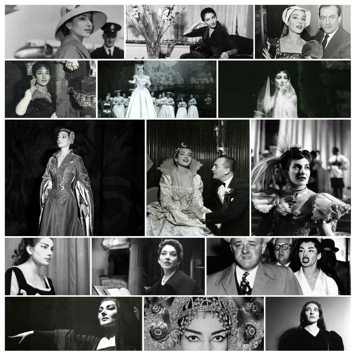 It's the anniversary of the passing of La Divina...here's a collage of some favourite photos #MariaCallas https://t.co/gAWeP4nkqn