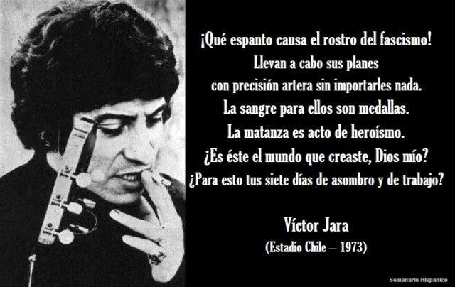 Hoy, 16 de Septiembre, se cumplen 43 años del vil asesinato del cantautor chileno #VictorJara https://t.co/GqmPUhJBHl