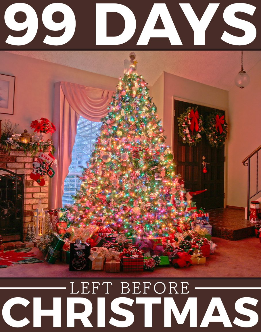 Until Christmas 99 Days Till Christmas.Your Christmas Countdown On Twitter Only 99 More Days To