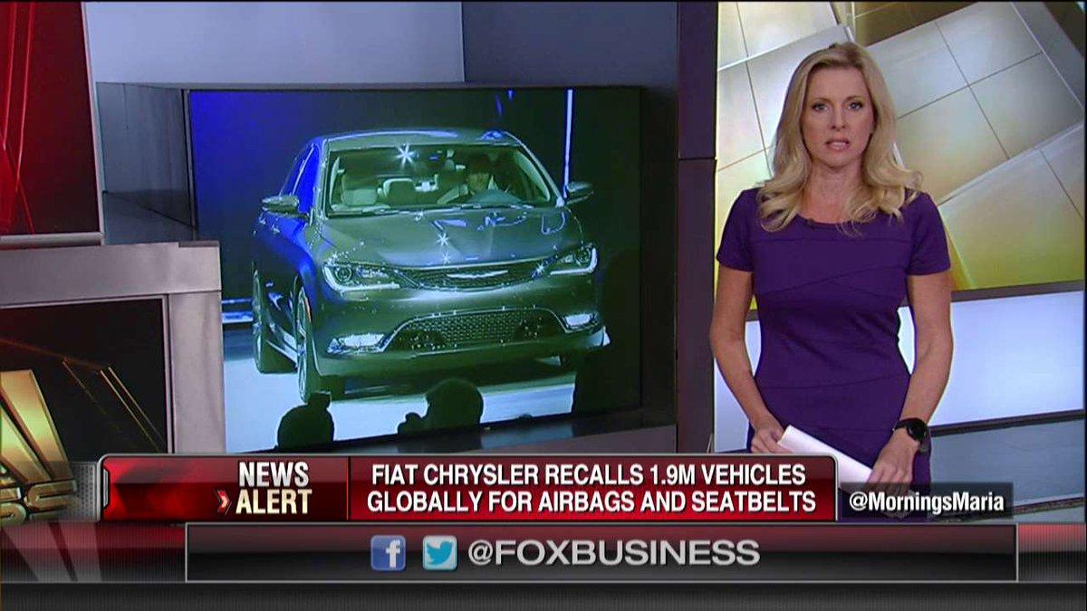 Airbag difettosi: Fiat richiama nel mondo quasi due milioni di auto