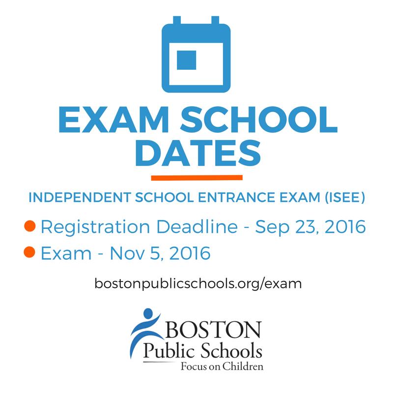 Bostonpublicschools On Twitter The Isee Test Registration Deadline