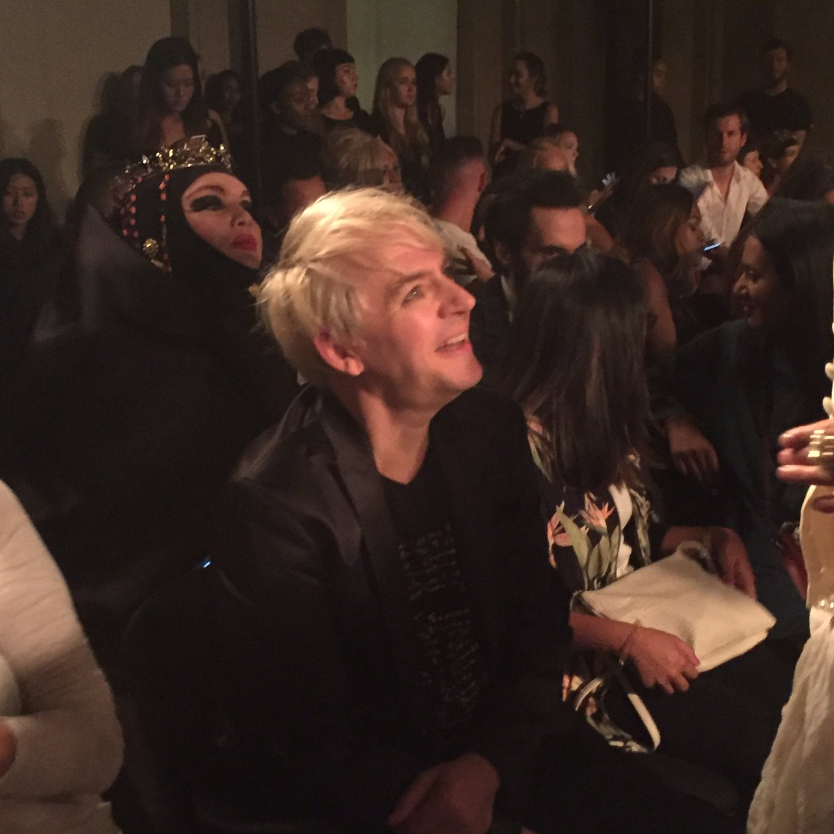 Nick Rhodes ready and waiting for @PAMHOGGcouture #FashionScout #ss17 https://t.co/k3KJBwDi6D