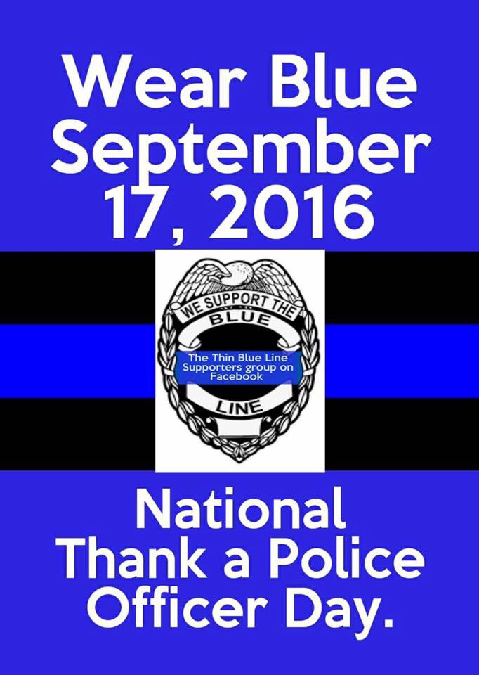 To those who serve and protect, thank you. #peaceofficers #blueline https://t.co/7dg8nMqaIz
