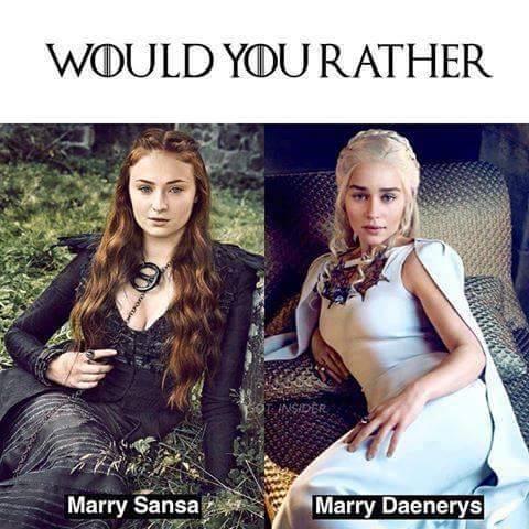 Marry snow daenerys jon will Game of