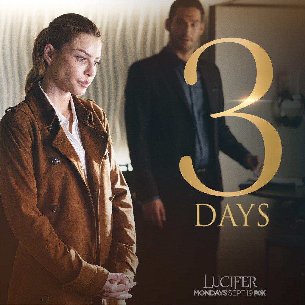 "Netflix Saves Fox S Lucifer From Cancellation: Tom Ellis On Twitter: ""3 Days!!!!!!! 😬😈😬 Https://t.co"