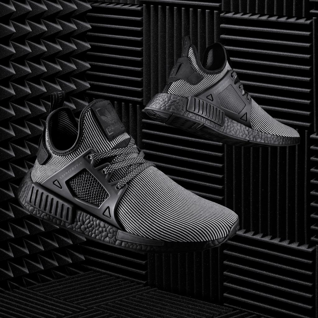 b053baf9bcc7 The next wave.  NMD XR1 and R1 in triple black.  NMD R1