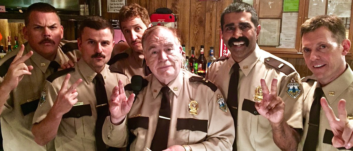 Working again with THE MAN - Mr. Brian Cox #SuperTroopers2 @brokenlizard