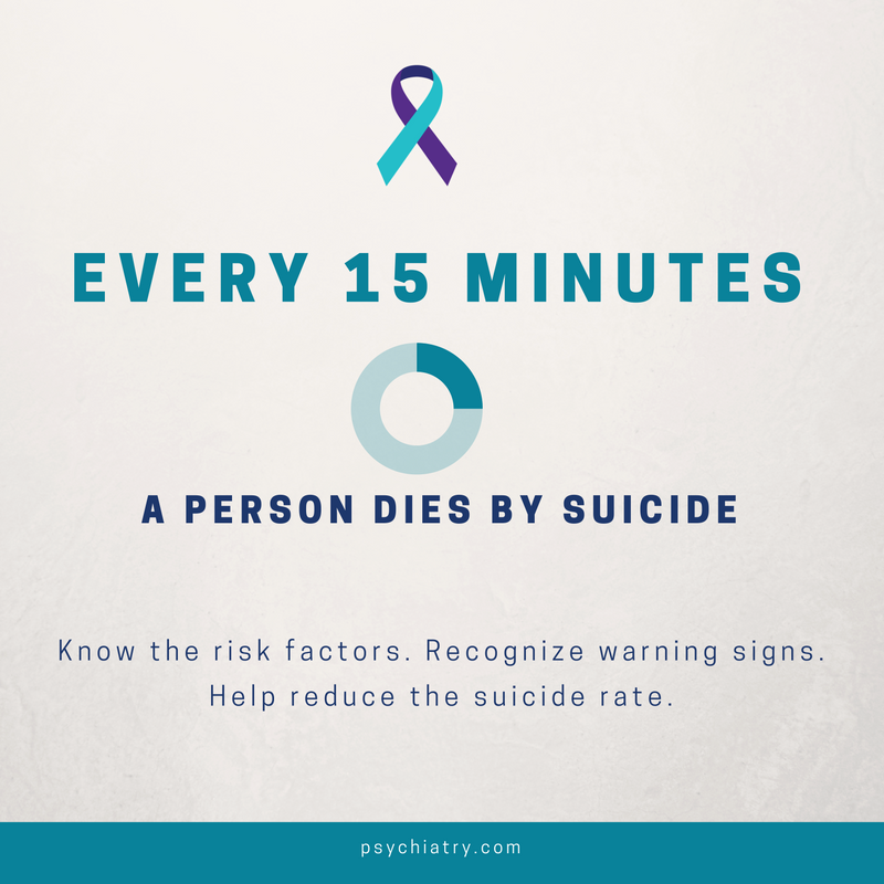 September is #SuicidePreventionMonth. Know risk factors, help reduce the suicide rate. https://t.co/y1wEV1voWu https://t.co/bGzV18u4bM