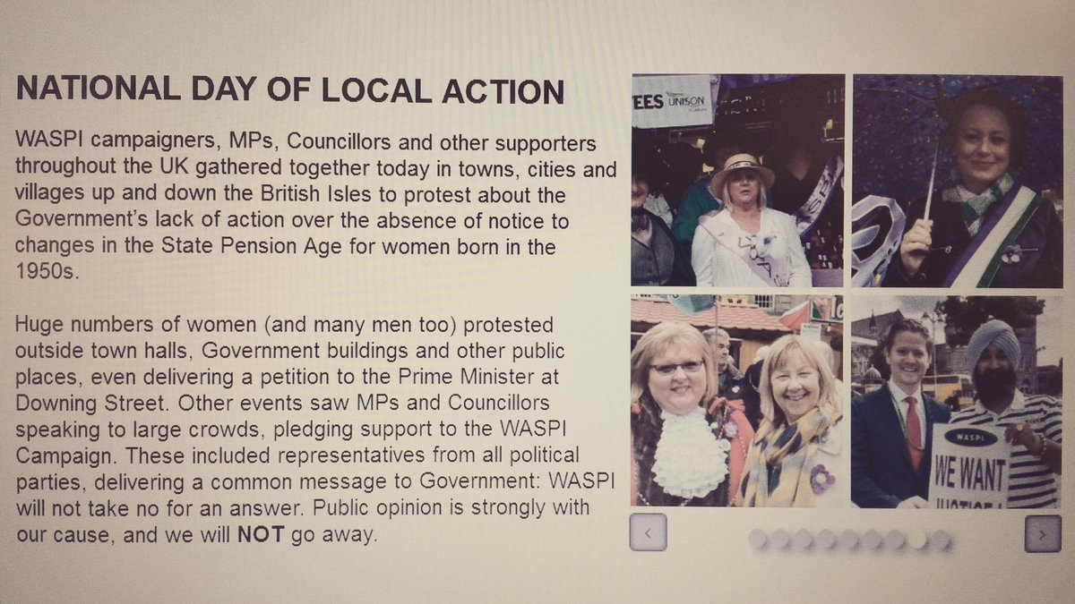 Proud to have made it to the @WASPI_Campaign website! Keep up the pressure, ladies & gentlemen.Our women deserve it! https://t.co/8mNLhCH85W