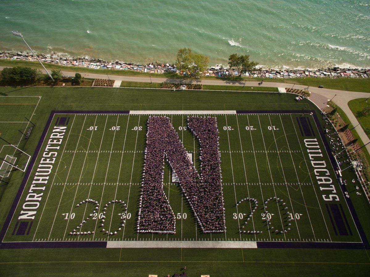 Now that's a class picture. Go U Northwestern!