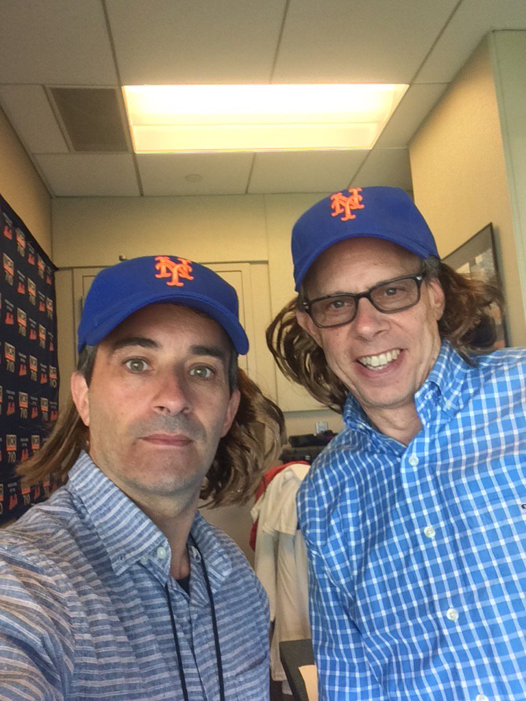 """Josh Lewin on Twitter: """"DeGrom Hair Hat Day at ballpark tomorrow! #hansonbrothers #themachine #tookourquarter… """""""
