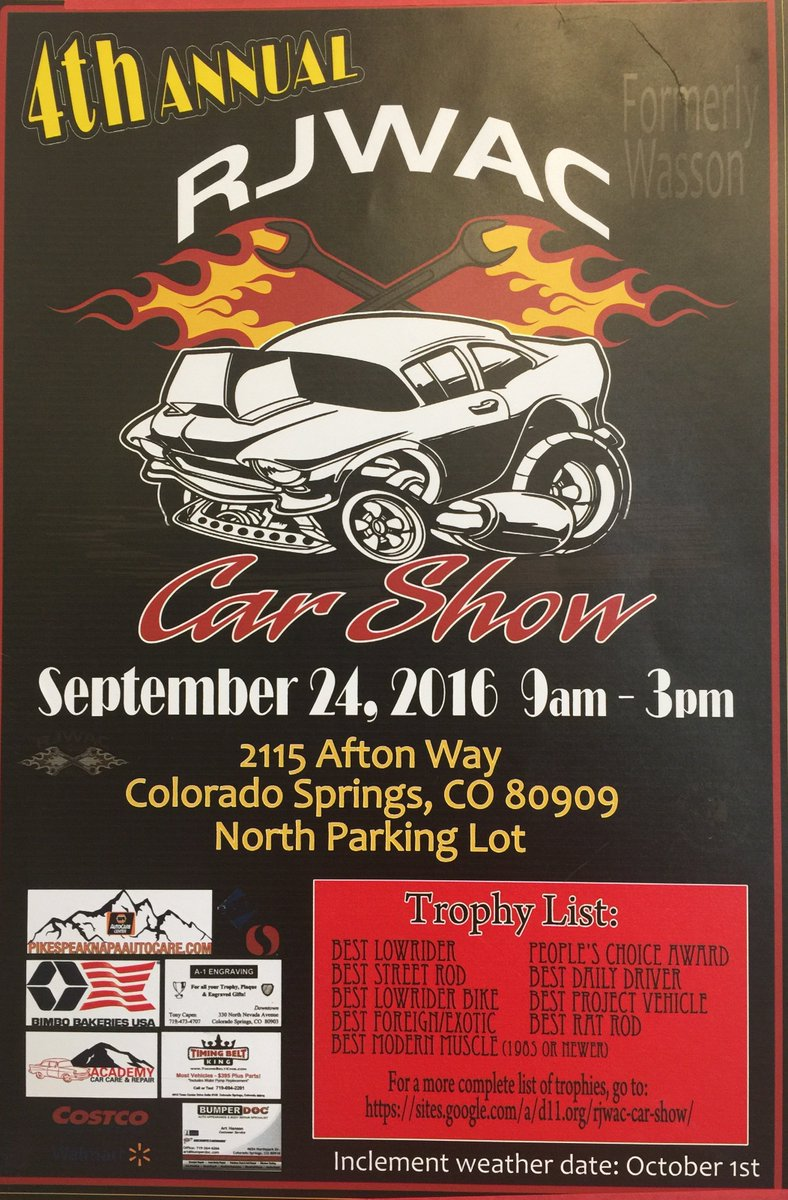 RJWAC On Twitter Car Show At Roy J Wasson Academic Campus - Old school car show colorado springs