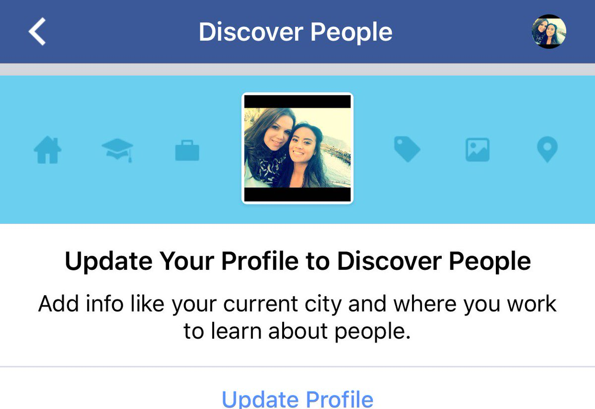 Discover update profile