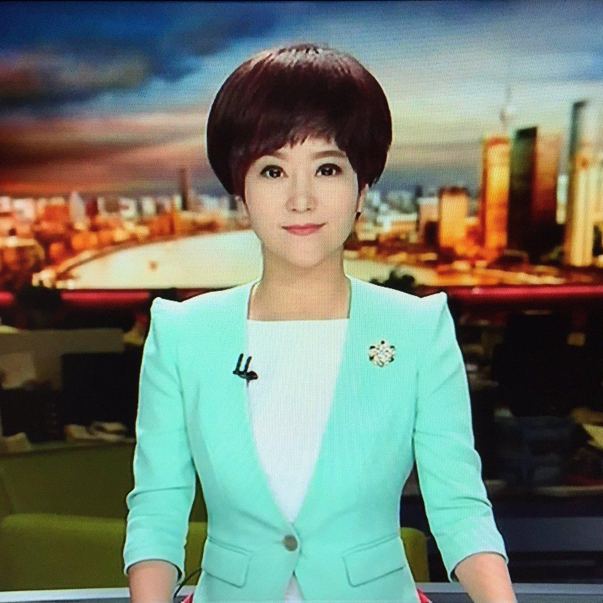 """しま on Twitter: """"上海の東方衛視の女子アナの髪型が気になりすぎる ..."""
