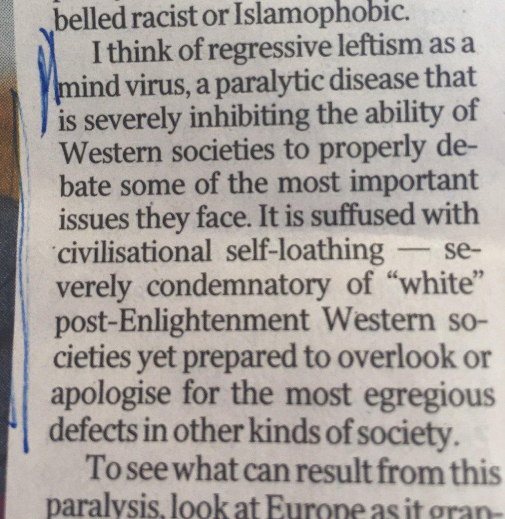 Amen, Peter Baldwin, amen! Not the progressive left, but regressive. https://t.co/48tdtCM5FN
