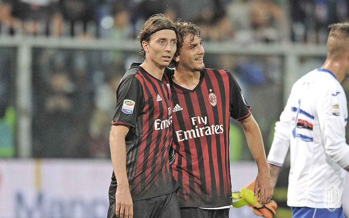 "Meytar Zeevi on Twitter: ""Riccardo Montolivo and Manuel Locatelli after  Samp-Milan last night… """