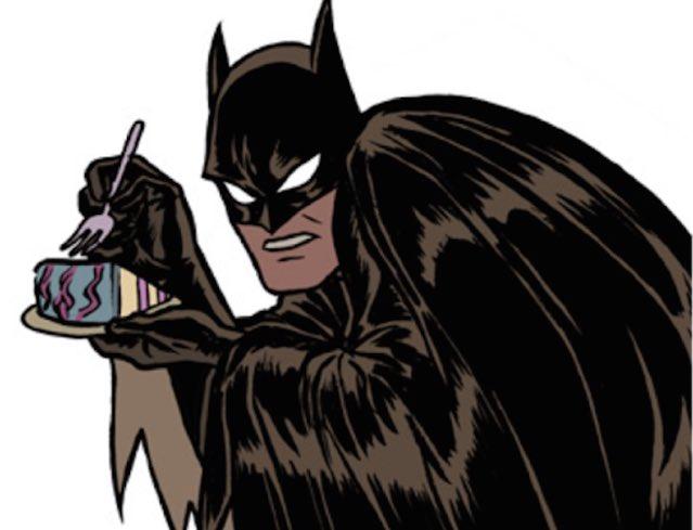 Рукавичка открытка, открытка с днем рождения с бэтменом