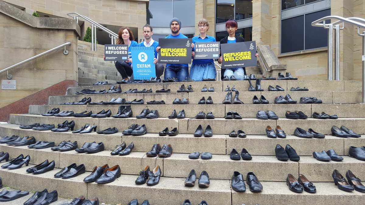 We are joining with other charities in Glasgow today to send the message that #ScotlandWelcomesRefugees #StandAsOne https://t.co/1r2l3USll9