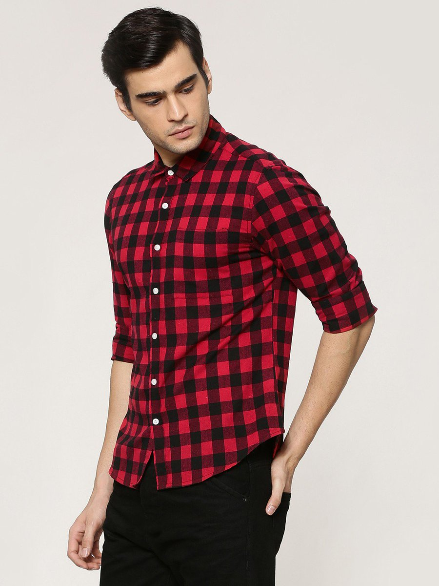red flannel shirt india