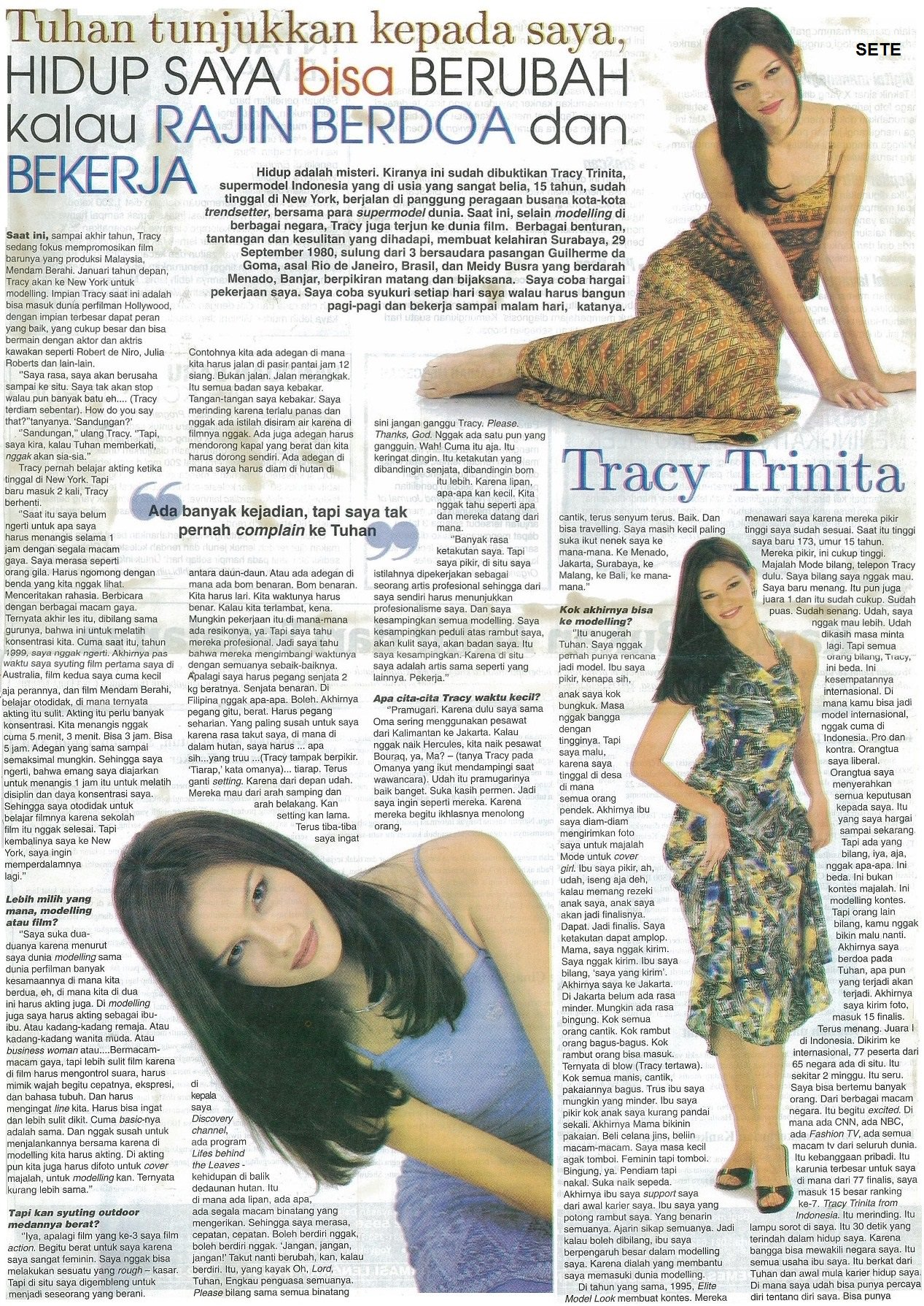 "Setepanus Purnama on Twitter "" throwback2001 Indonesia s first supermodel TracyTrinita is the coverstar for AURA Tabloid Indonesia … """