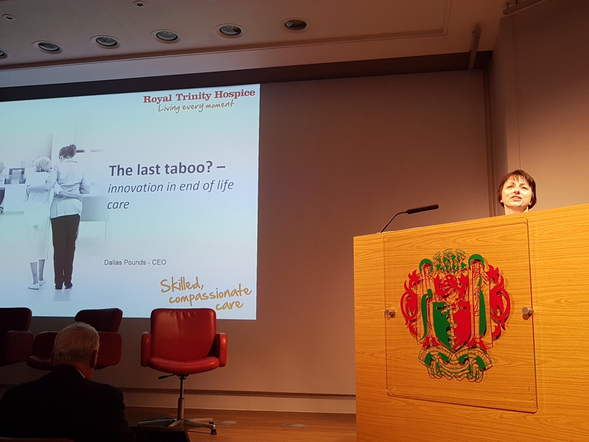 #innovation in Palliative care from @dallaspounds - the last taboo? #medinnov @stwilfridstweet https://t.co/rBLtUQFIlH