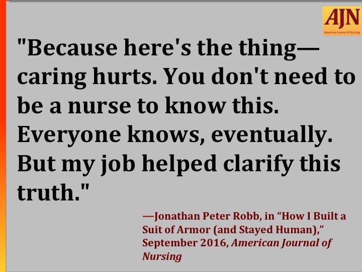 #AJNquoteoftheweek #nursing Quote source: https://t.co/J8J7UCxrDt https://t.co/tqIURKVDfp
