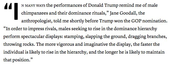 Asking Jane Goodall about Trump, was a stroke of genius, @JamesFallows https://t.co/ReOGCeq0Zq https://t.co/pSNz9qWYk4