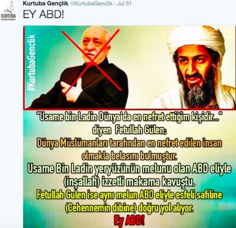 10) #AlQaeda-affiliated group's brochure adores Usama bin Ladin, despises #Erdogan's foe, Muslim cleric #Gulen https://t.co/k22NpmQdI3