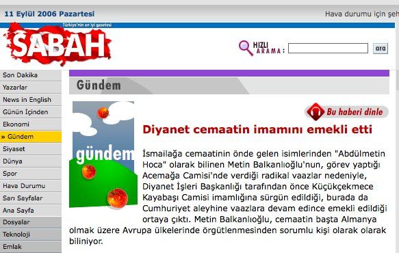 18) Abdülmetin Balkanlıoğlu was dismissed from gov't job in 2006 over radical views. Now he receives VIP treatment. https://t.co/IXjjinV0nu