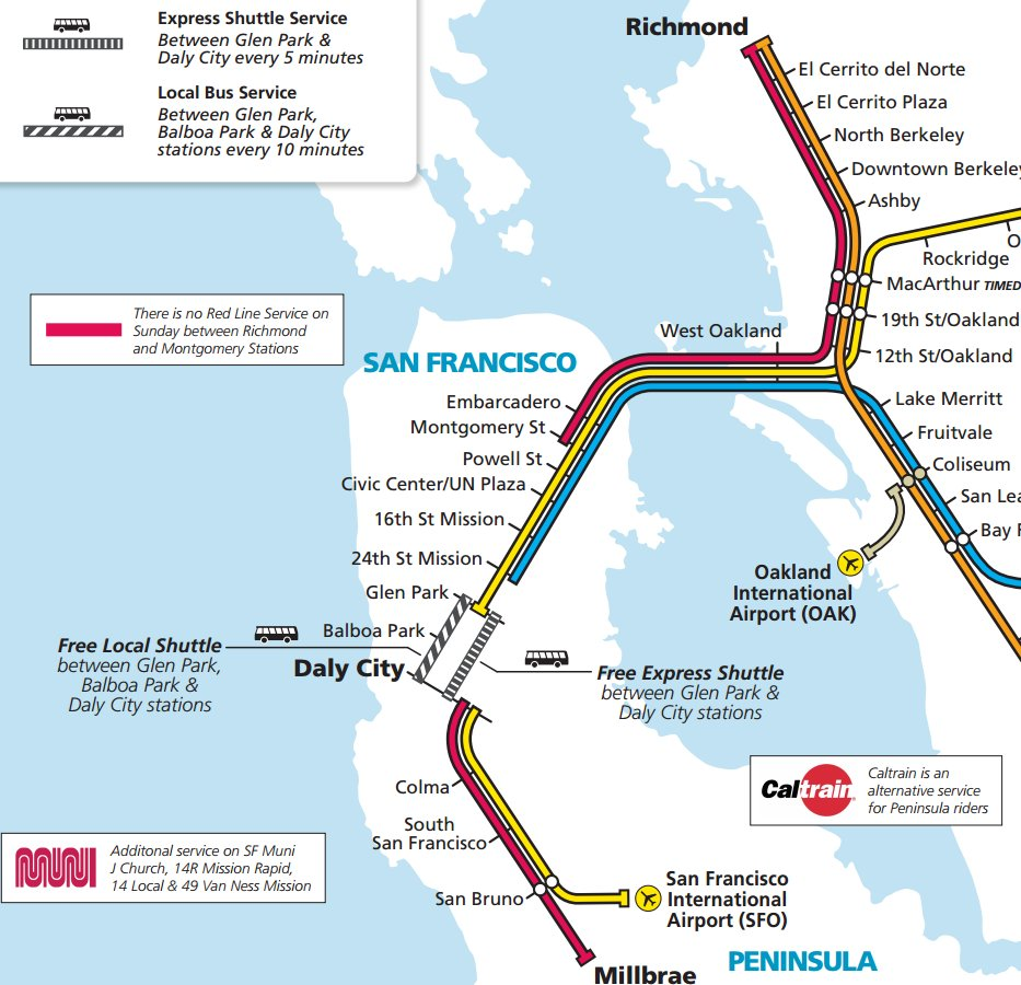 Sfmta On Twitter Reminder Sfbart Closures In Sf This Wknd Free