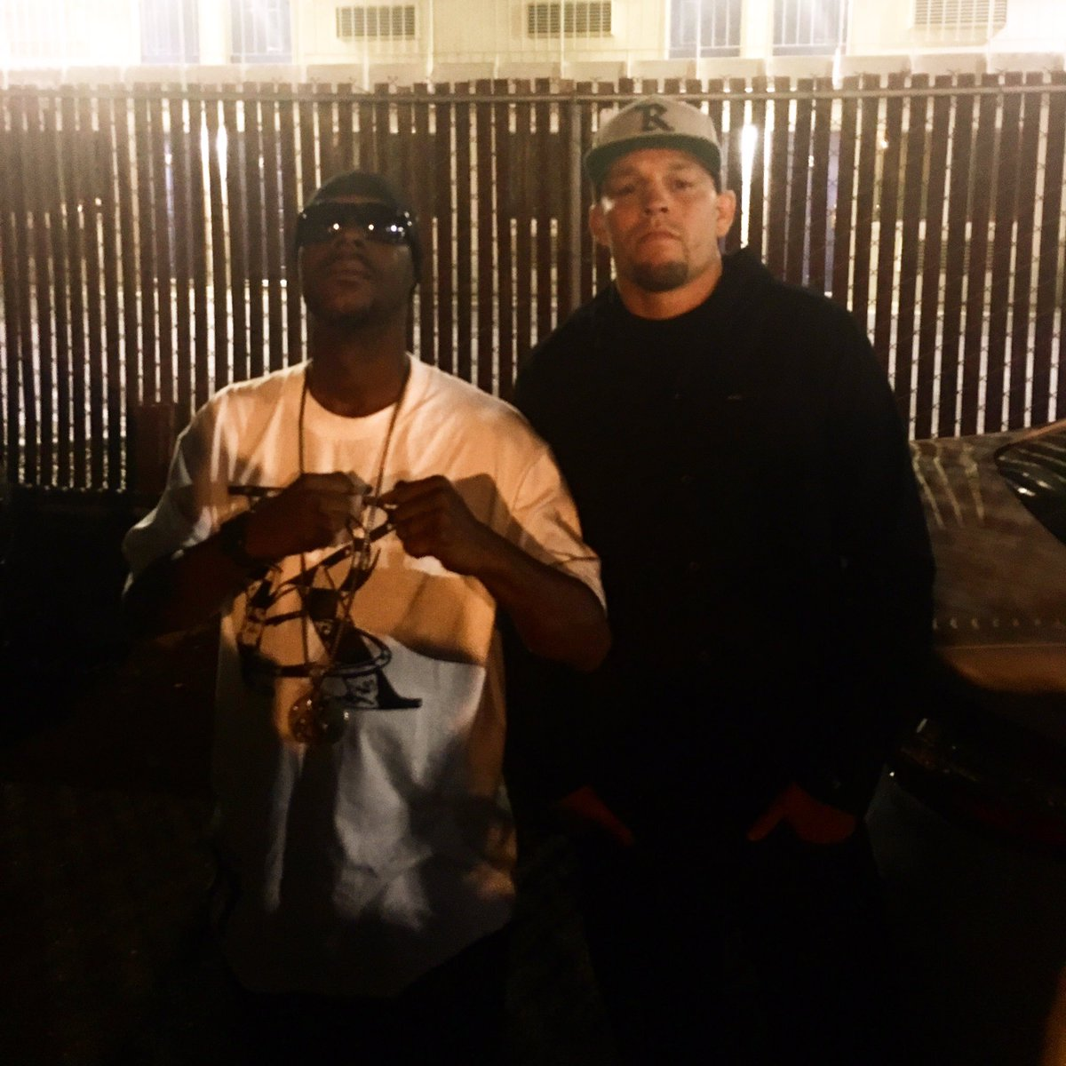 Me and the Homie Nate Diaz at my show last night https://t.co/8pX1kwRYJu