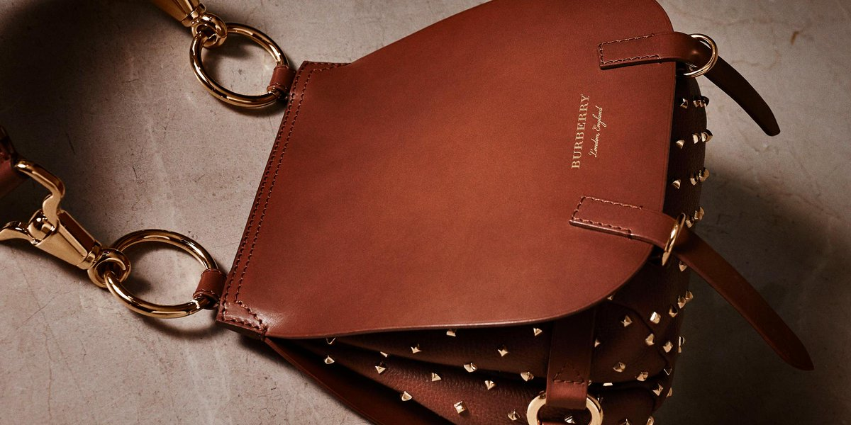 dbda1d11012c the bridle bag with rivet detailing from the new burberry collection shop  the show 19 september