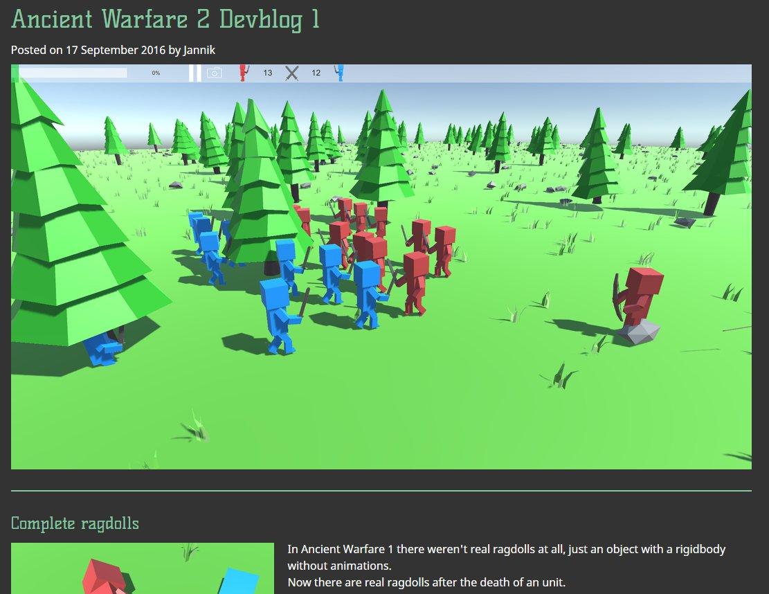 "Ancient Warfare 2 jannik on twitter: ""i'm now creating weekly devblogs for"